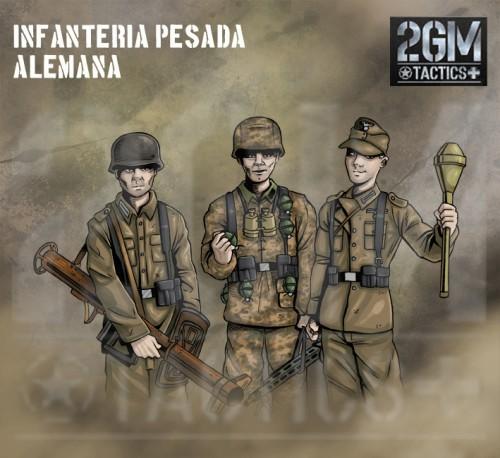 Nuevo juego de mesa 2GM Tactics - ÉXITO en Verkami Infanteria-pesada-alemana-e1431423848310