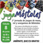 Draco Ideas en las 1º Jornadas de juegos de mesa «JugaMóstoles» el sábado 8 de junio