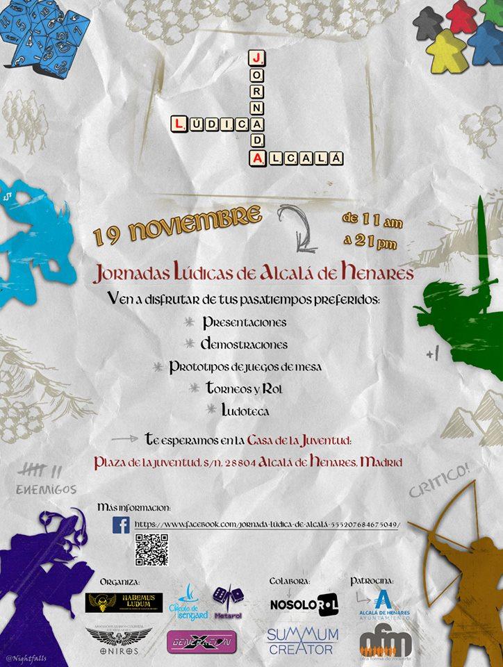 Cartel Jornadas Lúdicas Alcalá de Henares 2016