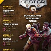Sector 6: partidas demostración en Madrid con el autor