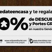 Portes gratis y 10% de descuento «quedateencasa»