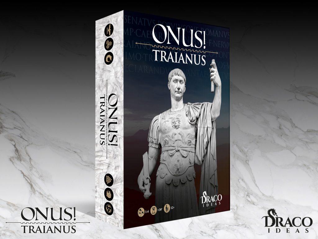 Caja del nuevo juego ONUS! TRAIANUS