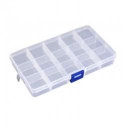 Caja de plástico con divisores