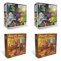 Pack de 2 juegos RatLand y 2 de Hatflings