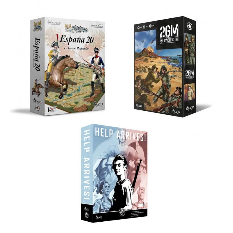 Pack de 3 juegos: España20, 2GM Pacific y Help Arrives!